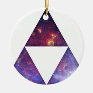 Triángulos cósmicos adorno de reyes