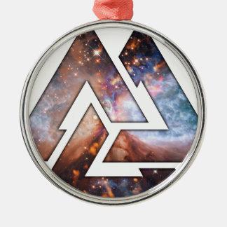 Triángulos cósmicos ornamente de reyes