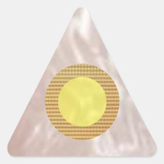 Triángulos de amor brillantes pegatina triangular