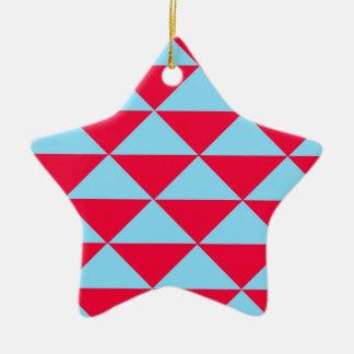 Triángulos de Miami Beach Adorno De Cerámica En Forma De Estrella