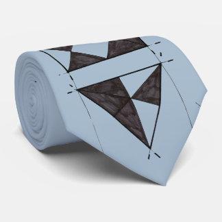 Triángulos del dibujo de la clase de arte de corbata