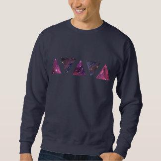 Triángulos del espacio (camiseta) sudadera