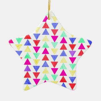 triángulos del verano adorno de cerámica en forma de estrella