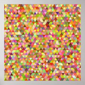Triángulos felices del verano póster