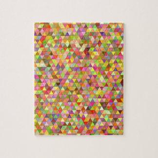 Triángulos felices del verano puzzle