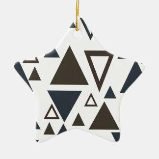 Triángulos geométricos ornaments para arbol de navidad