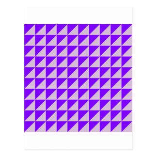 Triángulos grandes - cardo y violeta postal