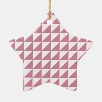Triángulos grandes - cordón rosado y Puce Ornamento Para Reyes Magos