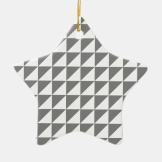 Triángulos grandes - grises y grises claros ornamentos de reyes magos
