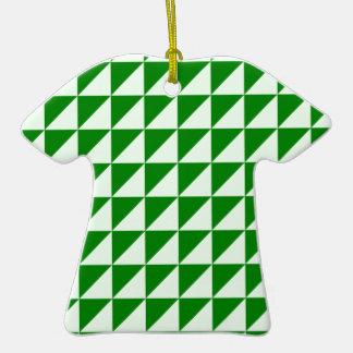 Triángulos grandes - Offwhitegreen y verde Adorno De Cerámica En Forma De Camiseta