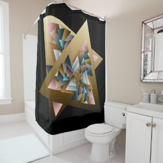 Triángulos metálicos geométricos