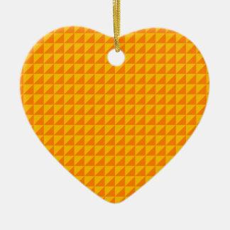 Triángulos - naranja y ámbar adornos de navidad