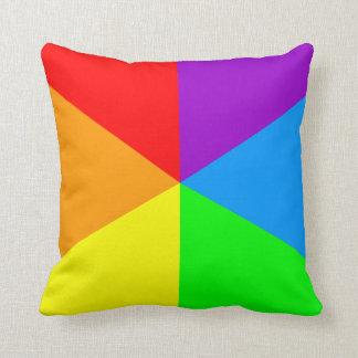 Triángulos retros del arco iris del vintage del ti cojín