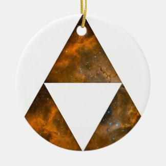 Triángulos triples cósmicos adorno para reyes