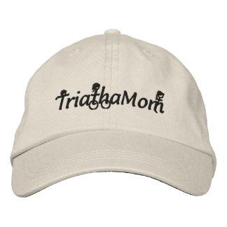 TriathaMom bordó el gorra de la tela cruzada