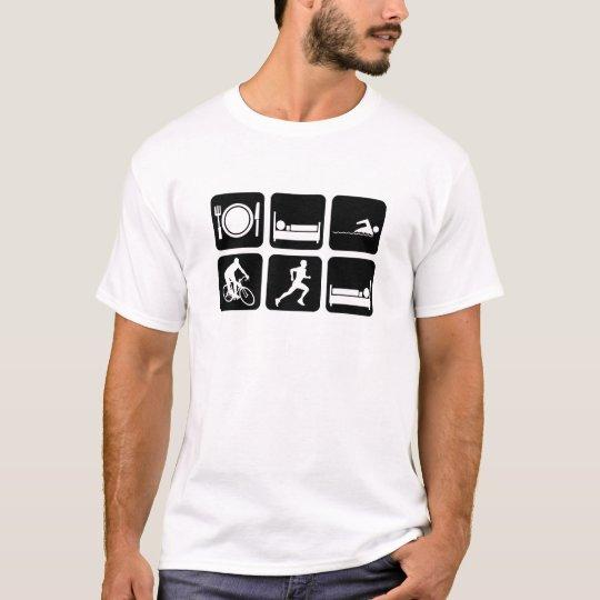 Triathlon divertido camiseta