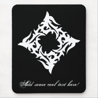 Tribal blanco negro clásico elegante simple fresco alfombrilla de ratón