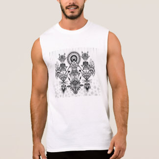 Tribal indio nativo antiguo abstracto camiseta sin mangas