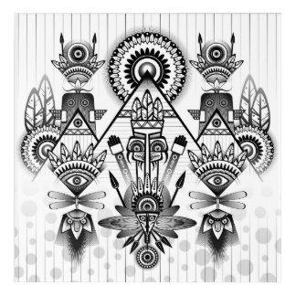Tribal indio nativo antiguo abstracto impresión acrílica
