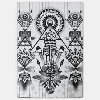 Tribal indio nativo antiguo abstracto notas post-it®