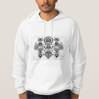 Tribal indio nativo antiguo abstracto sudadera