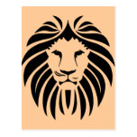 Tribal lion head postal