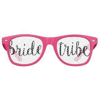 Tribu de la novia gafas de fiesta retro