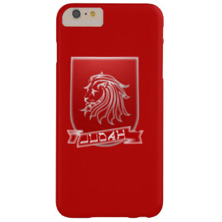Tribu del iPhone rojo 6/6s del escudo de Judah más Funda Barely There iPhone 6 Plus