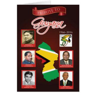 Tributo al aniversario de la independencia de tarjeta de felicitación
