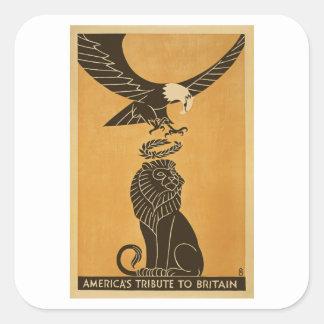 Tributo de Américas a la propaganda de Gran Pegatina Cuadrada