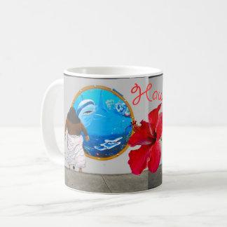 Tributo de la música hawaiana taza de café