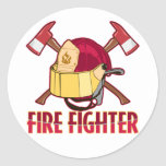 Tributo del bombero etiquetas