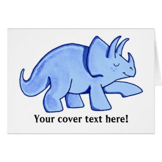 Triceratops azul tarjeta