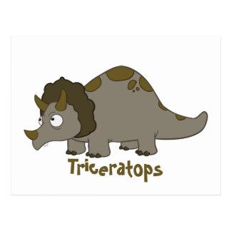 Triceratops del dibujo animado postal
