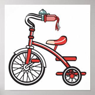 triciclo retro póster