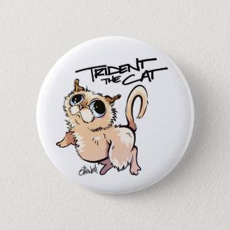Trident el botón del estándar del gato
