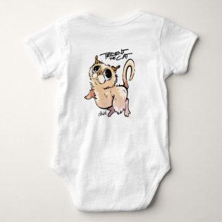 Trident el mono unisex del bebé del gato body para bebé