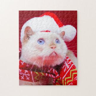 Trident el rompecabezas del navidad del gato