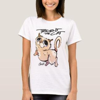 Trident la camiseta 01 del carácter del gato