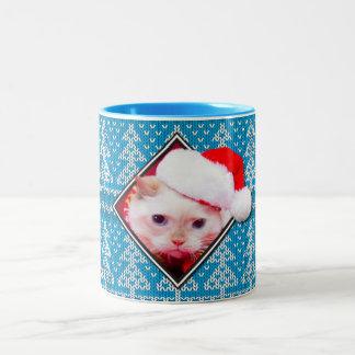 Trident la taza de café fea del suéter de Navidad