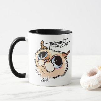 Trident la taza de café ilustrada gato 02