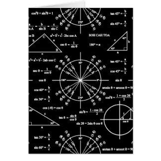 Trig y triángulos tarjeta de felicitación