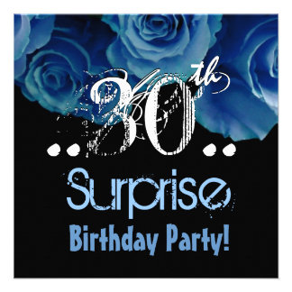 Trigésima fiesta de cumpleaños de la sorpresa del comunicados personalizados