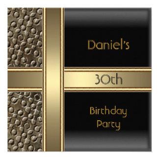 Trigésima fiesta de cumpleaños del bronce negro de anuncios personalizados