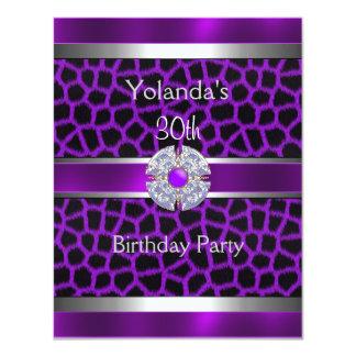 Trigésima fiesta de cumpleaños Jewelled del borde Invitación 10,8 X 13,9 Cm
