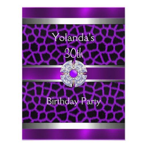 Trigésima fiesta de cumpleaños Jewelled del borde  Invitación Personalizada