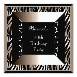 Trigésima impresión del juerguista del cumpleaños invitación 13,3 cm x 13,3cm