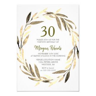 Trigésima invitación de la fiesta de cumpleaños de