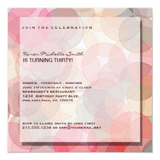 Trigésima invitación moderna minimalista de la