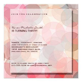 Trigésima invitación moderna minimalista de la fie
